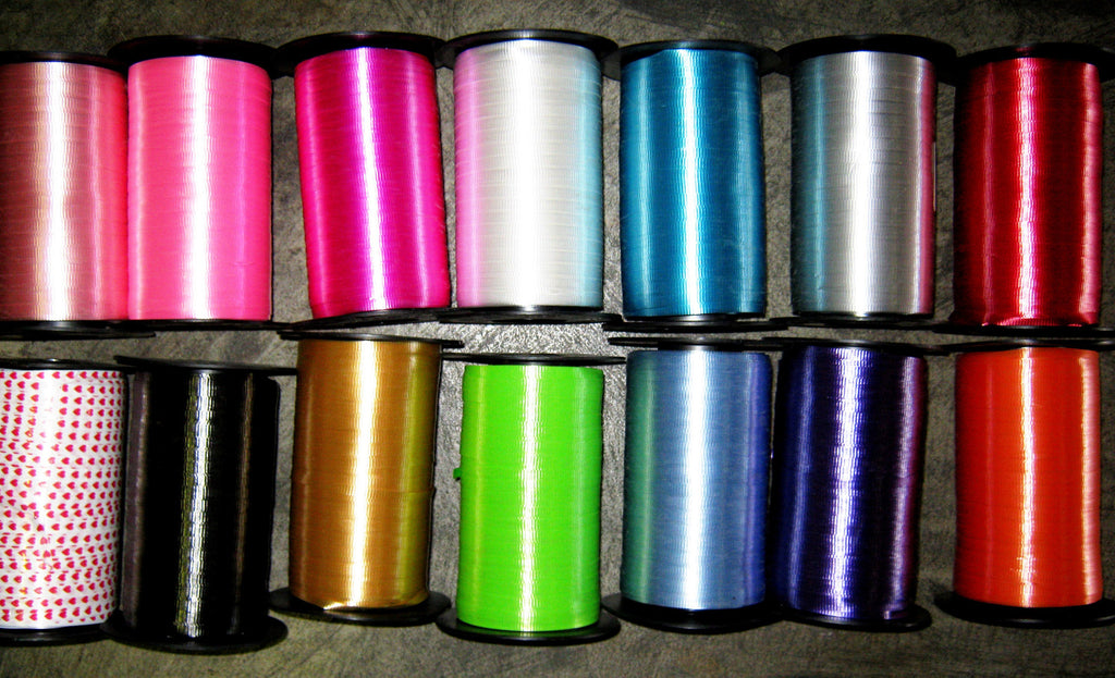 9219-07 Curling ribbon 500yd - aqua - case(12)