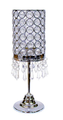 "50898 Crystal candle holder 11""  - CS(12)"
