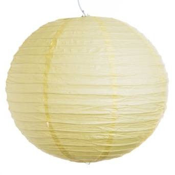 "12EVP-LY PAPER LANTERN 12"" LIGHT YELLOW CS - 6"