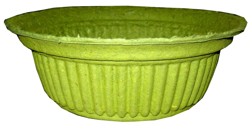 PM9D Paper Mache Design Bowl - Green 9x3.5""