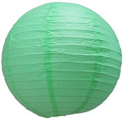 "16EVP- RE PAPER LANTERN 16"" COOL MINT CS - 6"