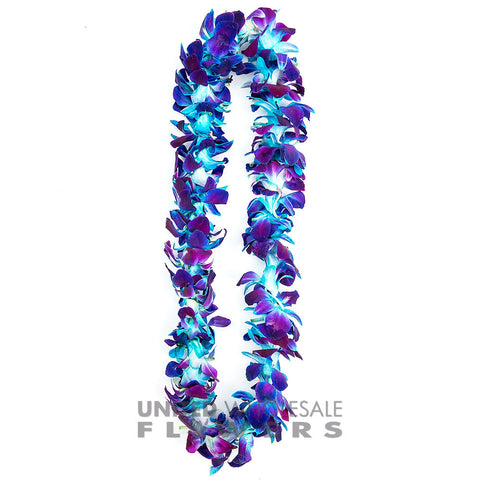FRESH SINGLE LEIS - BLUE SONNIA
