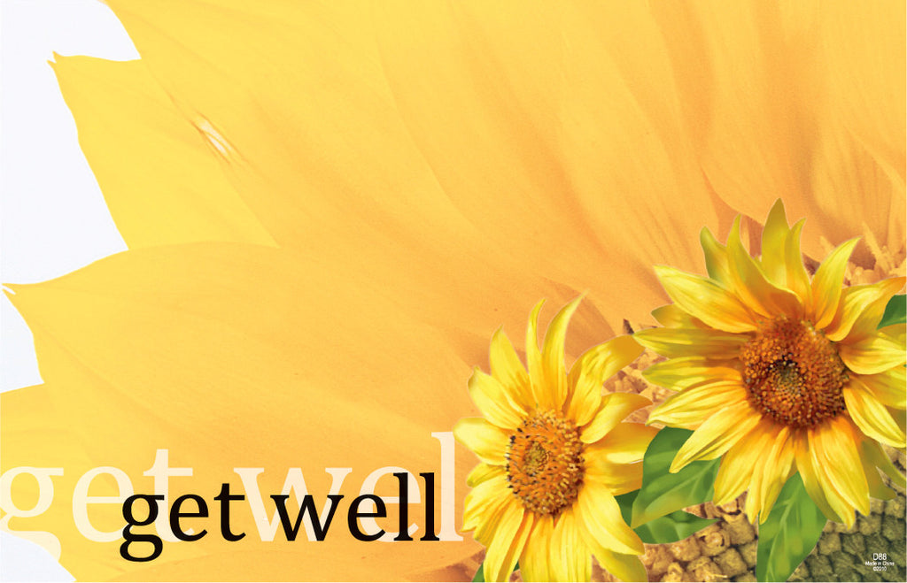 "SP0013 CAPRI CARD - SUNFLOWERS ""GET WELL"" - PKG/50 CS(10)"