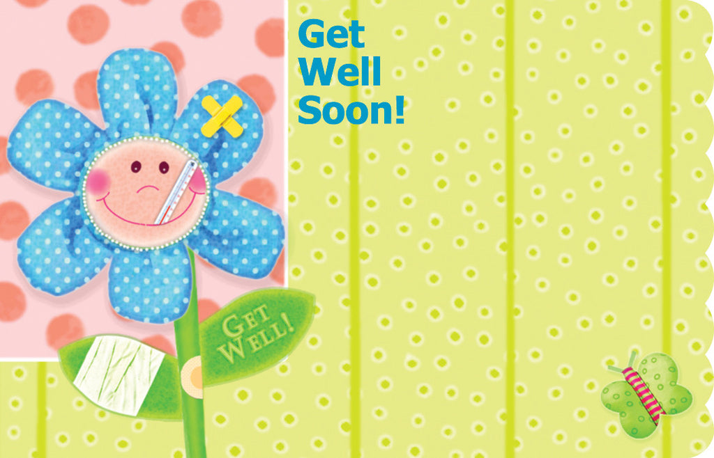 "SP0020 CAPRI CARD - FLOWER ""GET WELL"" - PKG/50 CS(10)"