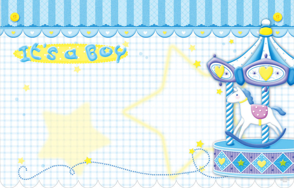 "SP0042 CAPRI CARD - BLUE ""ITS A BOY"" - PKG/50 CS(12)"