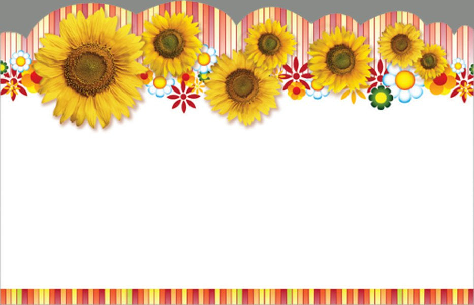 SP0113 Capri Card - Blank Sunflowers - PKG/50 CS(10)