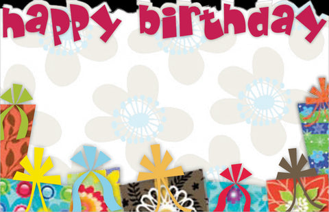 "SP0227 Capri Card - Colorful w/Gifts ""Happy Birthday"" - PKG/50 CS(10)"