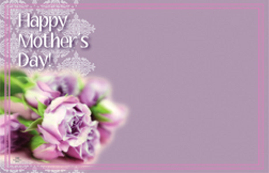 "SP0346 Capri Card - Purple w/Flowers ""Happy Mother's Day"" - PKG/50 CS(10)"