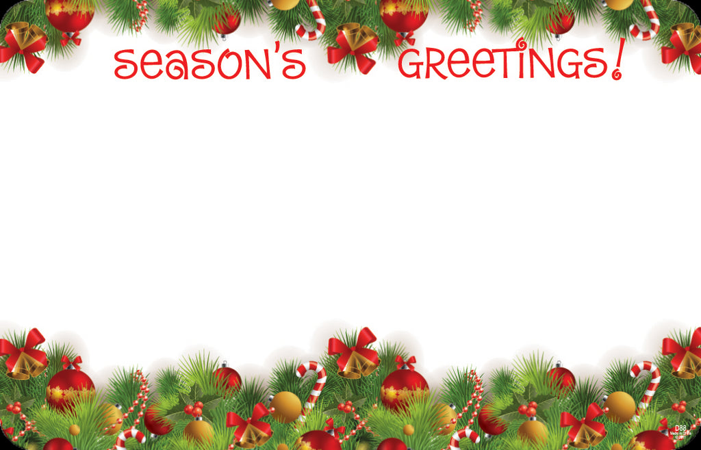"SP0358 Capri Card - Christmas Greens ""Season's Greetings"" - PKG/50 CS(10)"