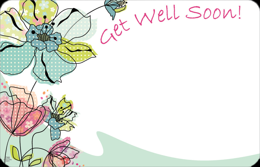 Sp0362 Capri Card White W Flowers Get Well Soon Pkg 50 Cs 10 United Wholesale Flowers