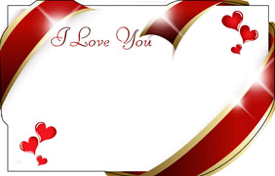 "SP0404 Capri Card - White w/Red Hearts ""I Love You"" - PKG/50 CS(10)"