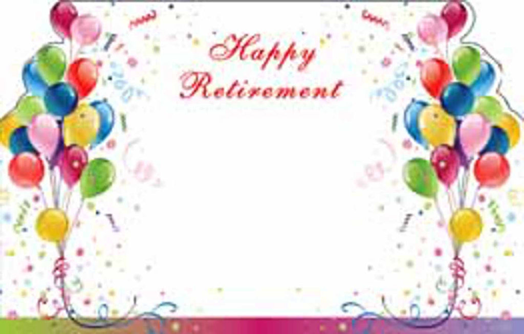 "SP0407 Capri Card - Balloons ""Happy Retirement"" - PKG/50 CS(10)"