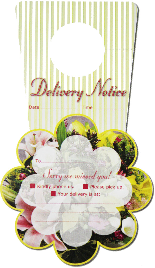 "TT0006 Tell Tag - ""Delivery Notice"" - PKG/50 CS(10)"