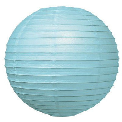"8EVP-WB PAPER LANTERN 24"" WATER BLUE CS - 6"