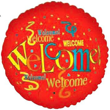 "114120 WELCOME HOME BALLOON 18"" - PKG/5  CASE(10)"
