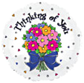 "114271 THINKING OF YOU BALLOON 18"" - PKG/5  CASE(10)"