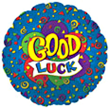 "114285 GOOD LUCK BALLOON 18"" - PKG/5  CASE(10)"