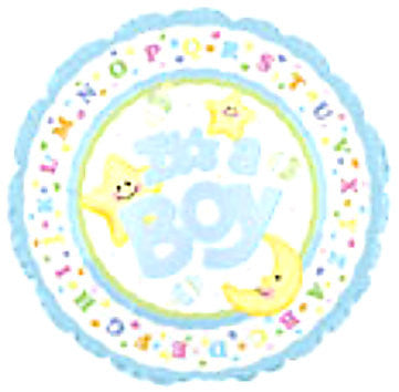 "114290 IT'S A BOY BALLOON 18"" - PKG/5  CASE(10)"
