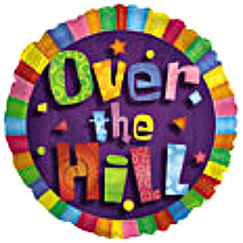 "114548 OVER THE HILL BALLOON 18"" - PKG/5  CASE(10)"