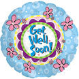"114533 GET WELL SOON BALLOON 18"" - PKG/5  CASE(10)"