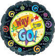"114661 WAY TO GO BALLOON 18"" - PKG/5  CASE(10)"