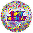 "414615 HAPPY BIRTHDAY BALLOON 18"" - PKG/5  CASE(10)"