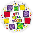"114865 GET WELL SOON BALLOON 18"" - PKG/5  CASE(10)"