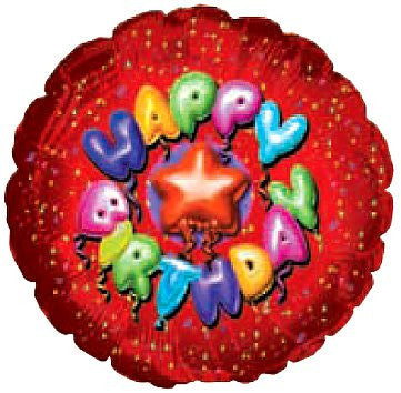 "115557 HAPPY BIRTHDAY BALLOON 18"" - PKG/5  CASE(10)"