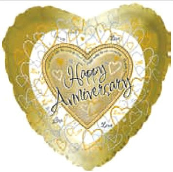 "214476 HAPPY ANNIVERSARY BALLOON 18"" PKG.5 -CASE(10)"
