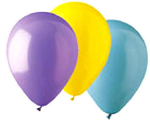 "912100 STANDARD LATEX BALLOON 12"" - Asst. Colors - BAG/100  CASE(6)"