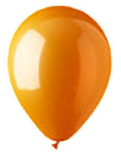"912107 LATEX BALLOON 12"" - ORANGE - BAG/100  CASE(6)"