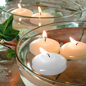 "CD079502 Floating Candles White 3"" Case(24)"