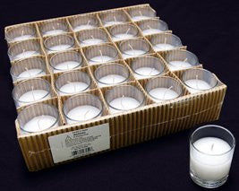 "CD2726 Glass Filled Votive Candles 2.5x 2"" White/Clear Box(25) Case(3)"