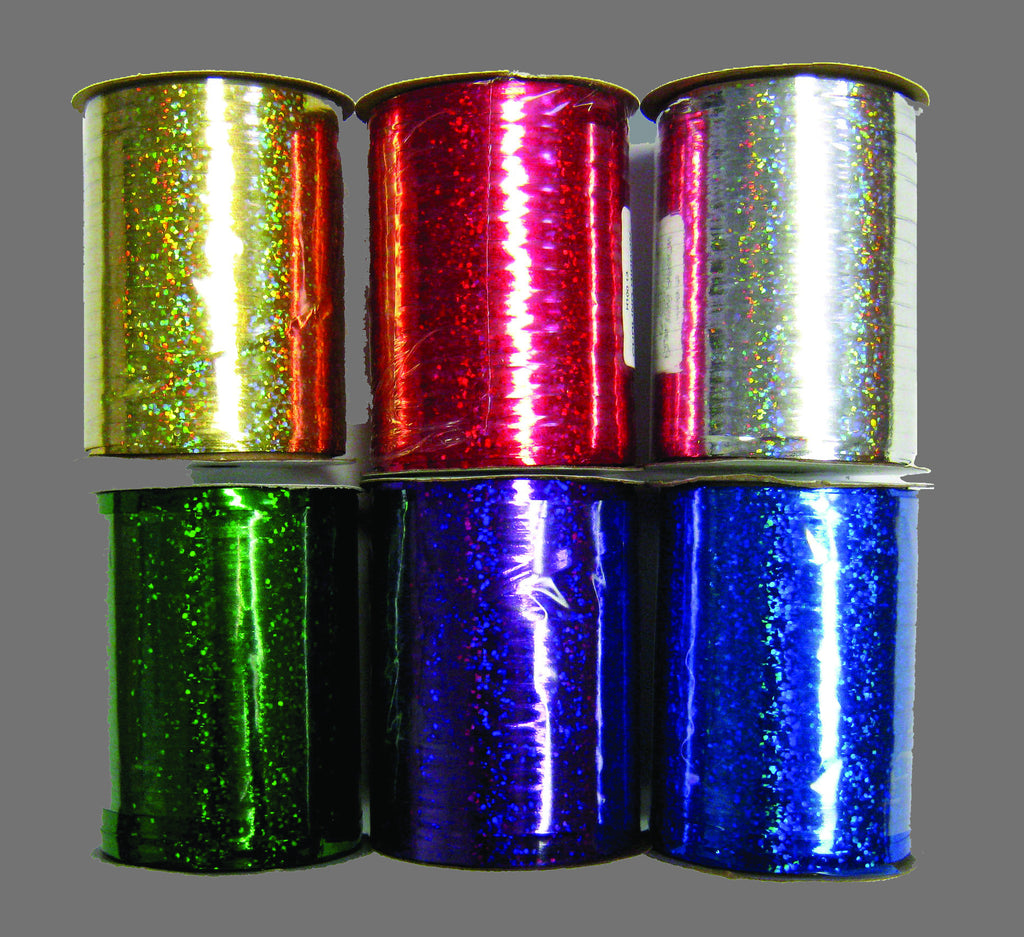 RH10020 HOLOGRAPHIC CURLING RIBBON - SILVER - CS(12)