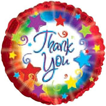 "114667 THANK YOU BALLOON 18"" - PKG/5  CASE(10)"