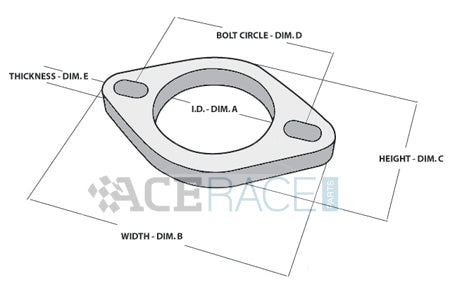 2-Bolt Exhaust Flange, Exhaust Flange, Stainless Exhaust Flange