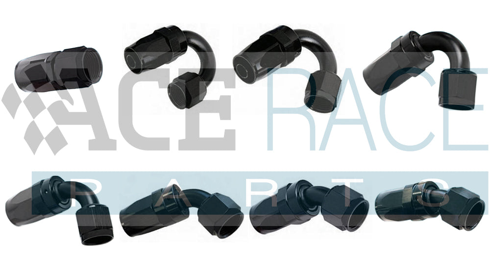 Aluminum Hose End Fittings, AN Fittings | Ace Race Parts