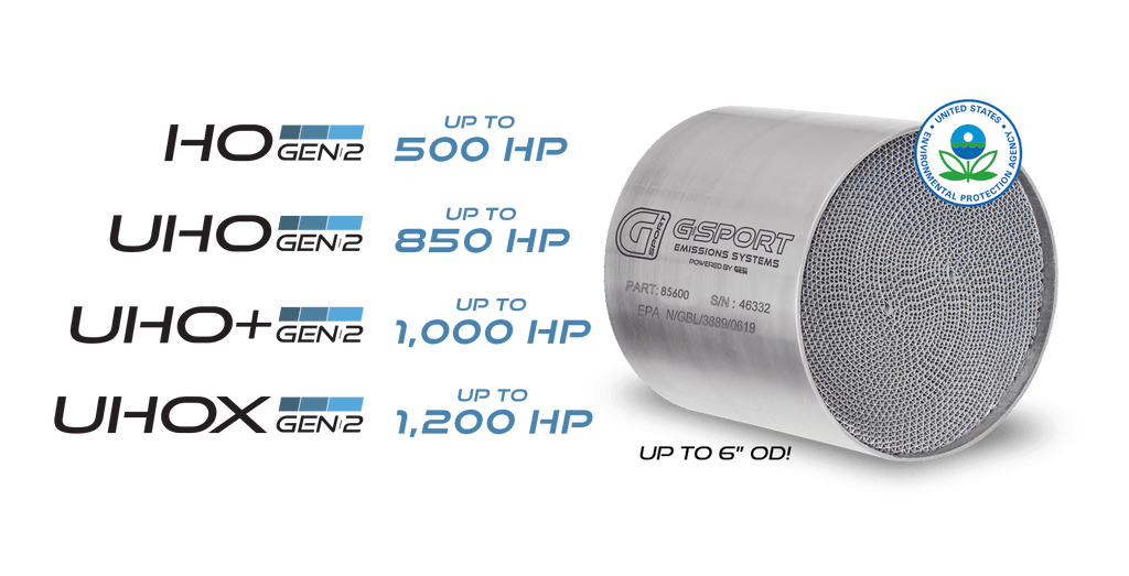 G-Sport 85500 - GESI 400 CPSI GEN2 EPA Approved 5in x 4in x 4in Substrate Only