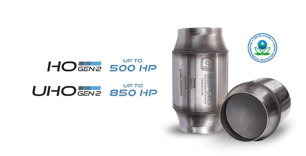 Ace Race Parts | G-Sport 85240 - GESI 400 CPSI GEN 2 EPA Approved 4.0in Inlet/Outlet Catalytic Converter