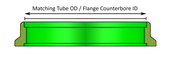 V-Band Flange Counterbore ID Matching Tube Size OD | Ace Race Parts
