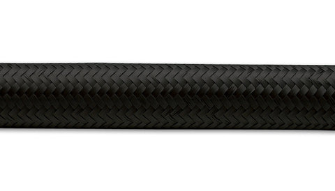 "Vibrant Black Nylon Braided Flex Hose - 10'-0"" Roll - (Select Size) - Ace Race Parts"