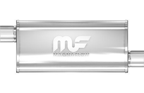 "MagnaFlow Universal Muffler - 3.0"" Inlet/Outlet - 5"" x 8"" Oval Body - 14"" Long (14239) - Ace Race Parts"