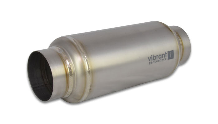 "Vibrant Resonator 3.000"" Inlet/Outlet x 12"" Long - CP1 Titanium (17530)"