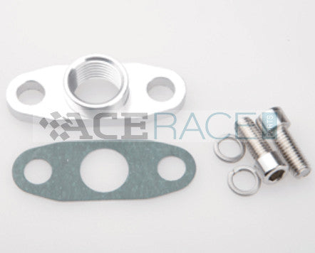 "Oil Drain Flange with 1/2"" FNPT Fitting (for GT25R, GT28R, GT30R, GT35R BB Turbos) - Ace Race Parts"
