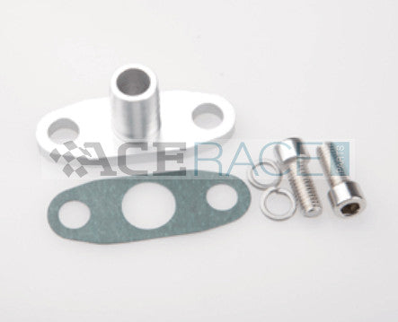 "Oil Drain Flange with 5/8"" OD Male Neck (for GT15-GT55 BB Turbos) - Ace Race Parts"