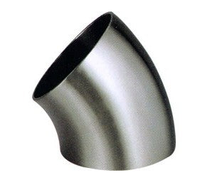 "3.500"" 16ga 45° Mandrel Bend 321 Stainless 