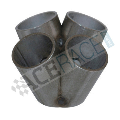 "T3 / T4 4-1 Merge Collector (1-1/4"" Schedule 10 - No Flange - Tack Welded) - 304 Stainless - Ace Race Parts"