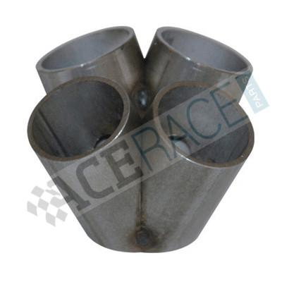 "4-1 Merge Collector for 2.500"" ID V-Band (1-1/2"" Schedule 10 - No Flange - Tack Welded) - 304 Stainless - Ace Race Parts"