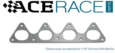 Honda D-Series Exhaust Manifold Flange Mild Steel (Ver.2) - Ace Race Parts