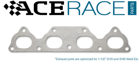 Honda D-Series Exhaust Manifold Flange Mild Steel (Ver.1) - Ace Race Parts